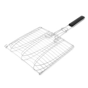 BBQ SIATKA DO GRILLOWANIA RYB 28X28X63CM