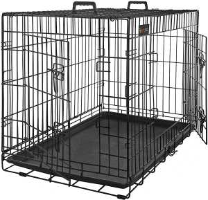 dog cage, dog box, collapsible, 2 doors
