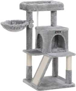 scratching post with large viewing platform, scratching board