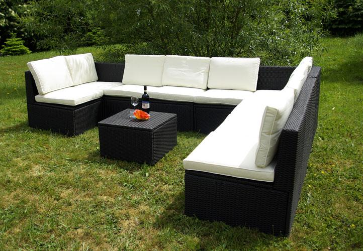 Komplet mebli ogrodowych z rattanu  kanapy + stół  sklep TwojPasaz