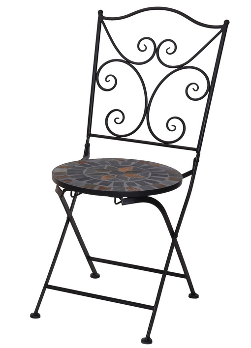 Krzesło metalowe ogrodowe balkonowe tarasowe Mozaika