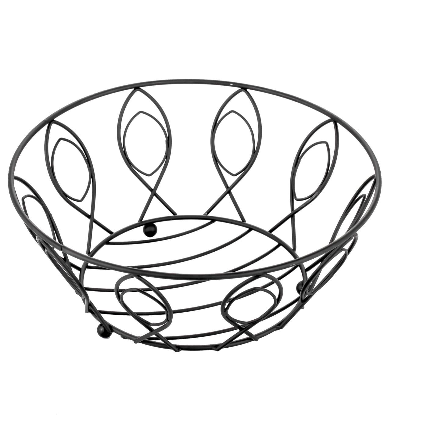 Koszyk Metalowy Na Owoce Listek 28 X 11 5 Cm Czarny Sklep Internetowy Twojpasaz Pl